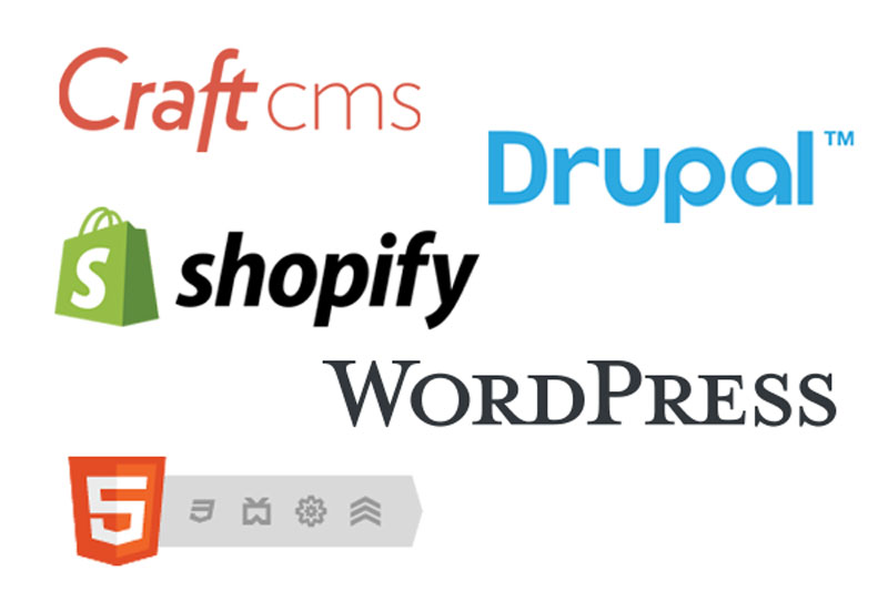 Drupal, Craft CMS, HTML5, Wordpress