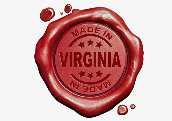 Made in Virginia USA stamp