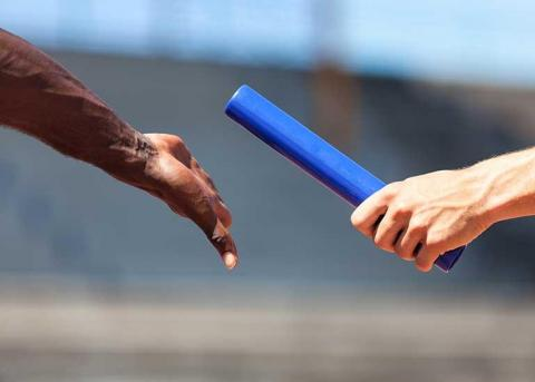 Handoff baton to another